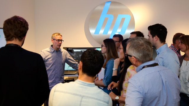 image of people showcasing HP products