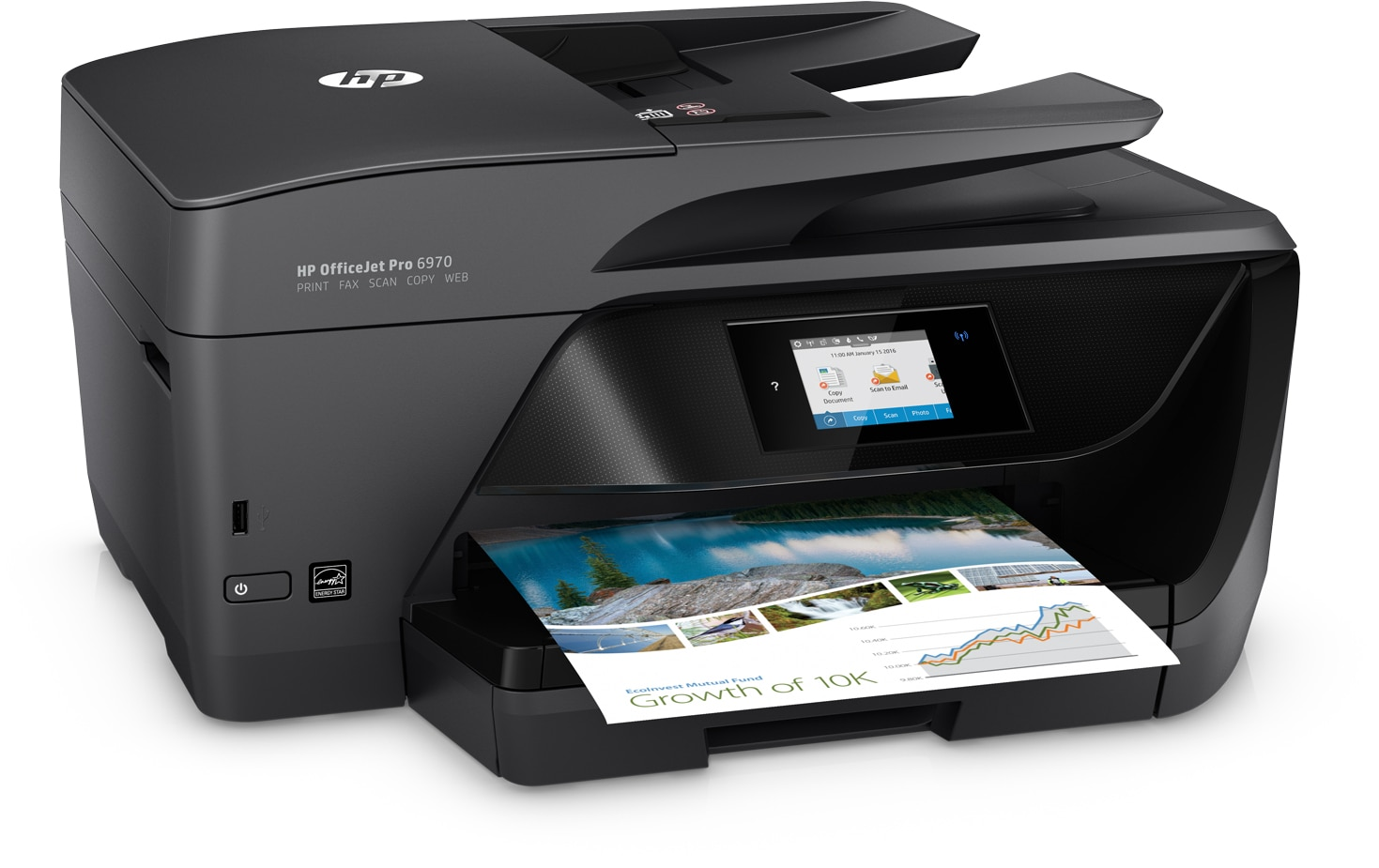 Can't connect 6900 series hp all in one printer to myvista h.