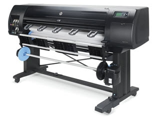 Front view of the HP DesignJet Z6610 Production Printer without output