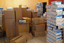Material seized in an anti-counterfeit raid
