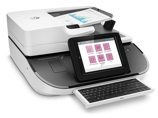 Station de travail de capture de documents HP Digital Sender Flow 8500 fn2