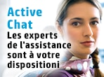 Les experts du support par Active Chat sont à votre disposition