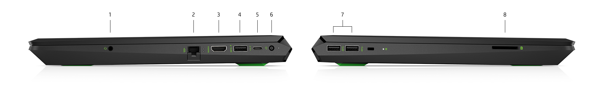 Pavilion Laptop  left and right side ports