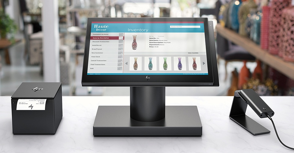 HP ElitePOS with receipt Printer and scanner