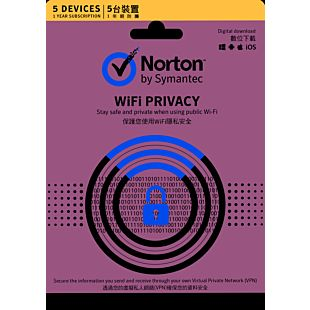 Norton WiFi Privacy 1.0 1 User 5 Device for 12 Months