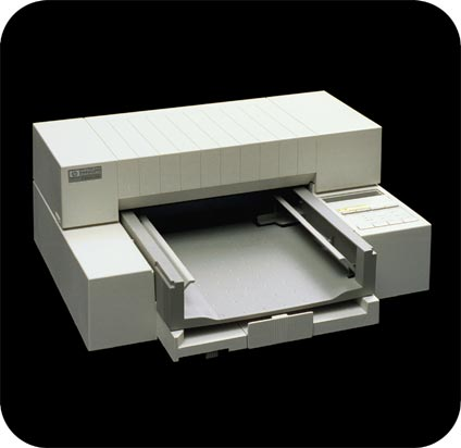 Hewlett-Packard DeskJet Printer - 3/4 view.
