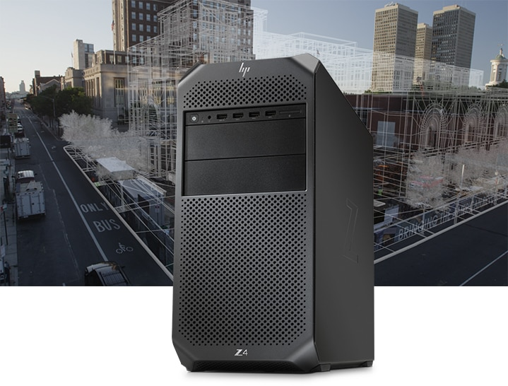HP Z2 SFF workstation tampak depan