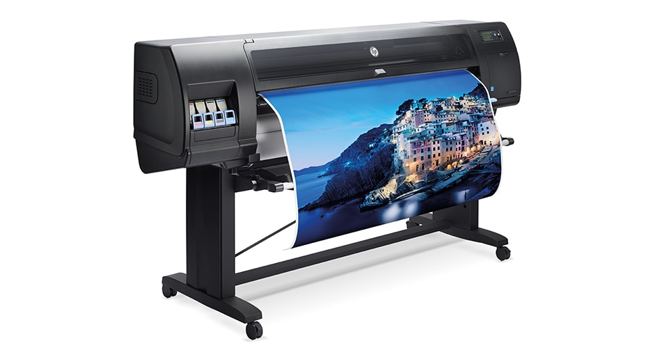 Side view of the HP DesignJet D5800 Production Printer