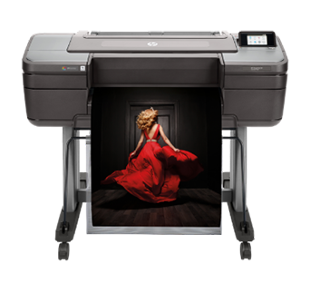 tampak depan hp z9+ printer designjet