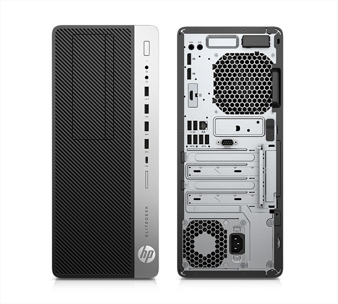 Front and rear image of EliteDesk 705 reliable business desktop tower