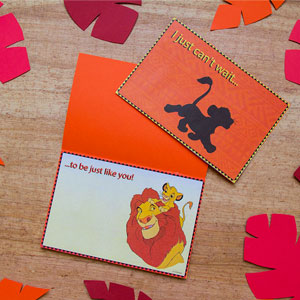 Disney's The Lion King Father's Day Card