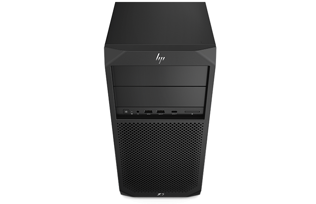 HP Z2 SFF Tower workstation tampak depan
