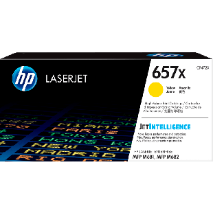 HP 657X High Yield Yellow Original LaserJet Toner Cartridge