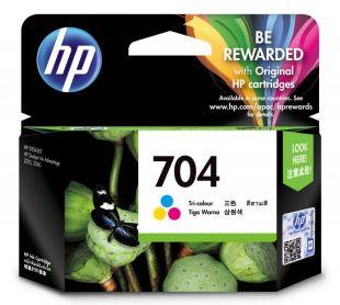 HP 704 Tri-color Original Ink Advantage Cartridge