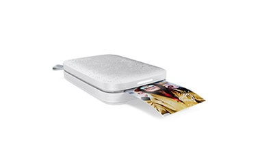 HP Sprocket luna white photo printer