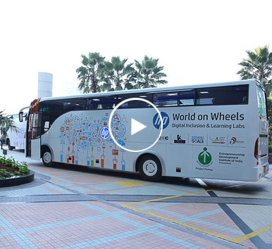 Image of HP World on Wheels bus