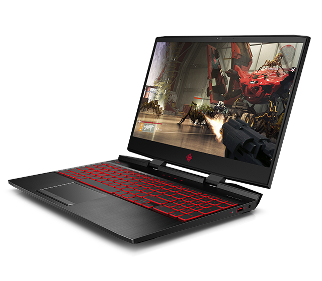 open HP Omen 15 - left facing