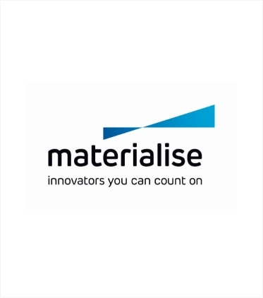 Company logo of Materialise, representing integration with their industry leading 3D software