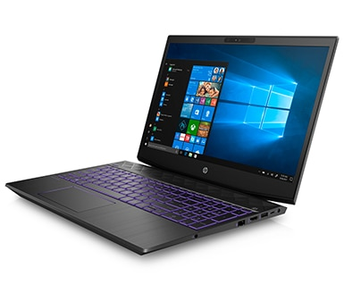 Pavilion Gaming laptop left facing