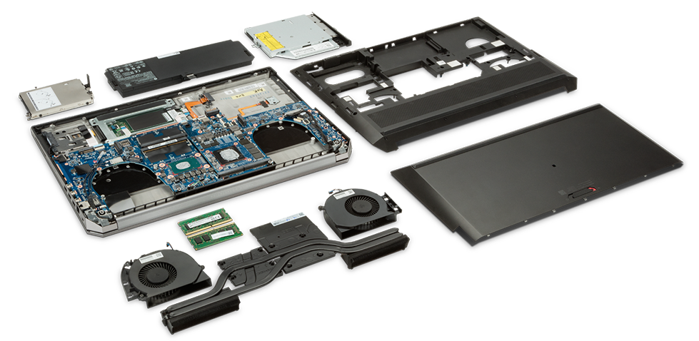 What is inside the Zbook 17 laptop workstation