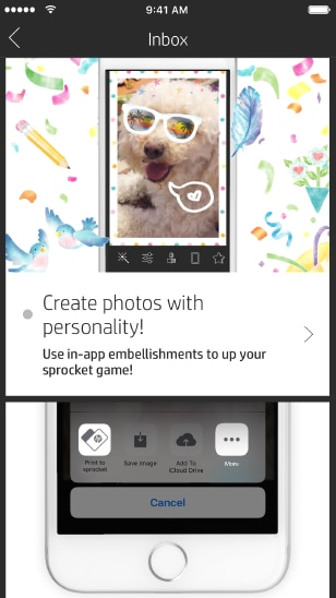 HP Sprocket app - create your own photo stickers