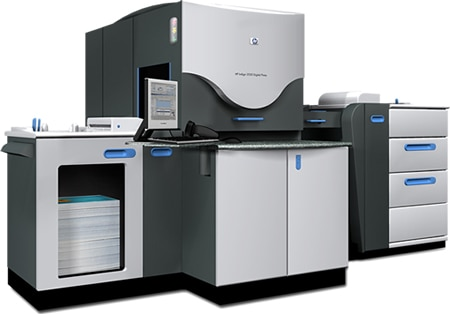 The HP Indigo 3550 digital press is an entry-level press with Indigo's offset matching quality