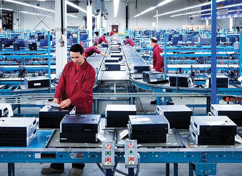 image of people on production lines