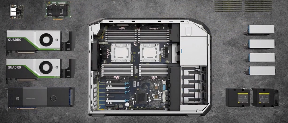 the inside of HP Z2 mini