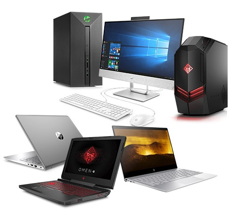 HP Pavilion Power Desktop, HP AiO 24, OMEN by HP Desktop, HP Pavilion Thin, OMEN by HP 15, HP ENVY 13