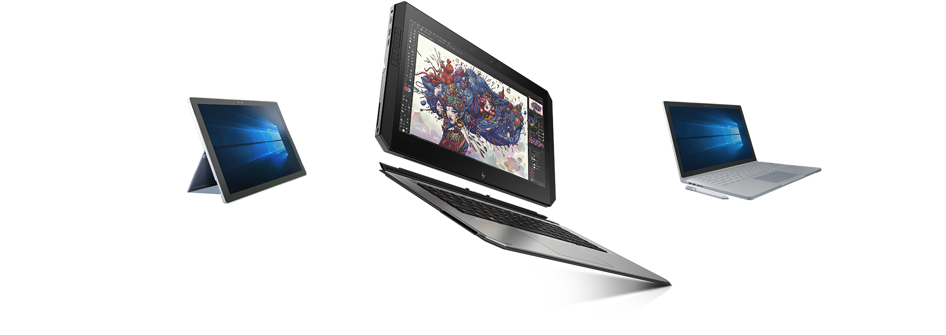 HP Zbook x2 vs. Microsoft® surface