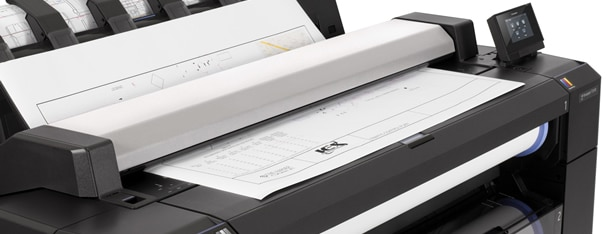 Close-up view of the HP DesignJet T2530 Printer