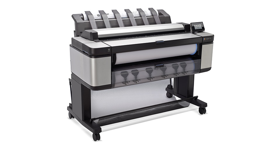 Side view of the HP DesignJet T3500 Production Multifunction Printer