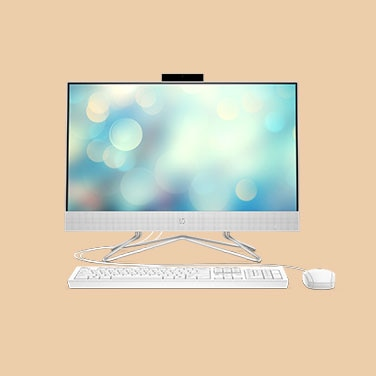 "HP All in One 24"" - Color: Blanco"
