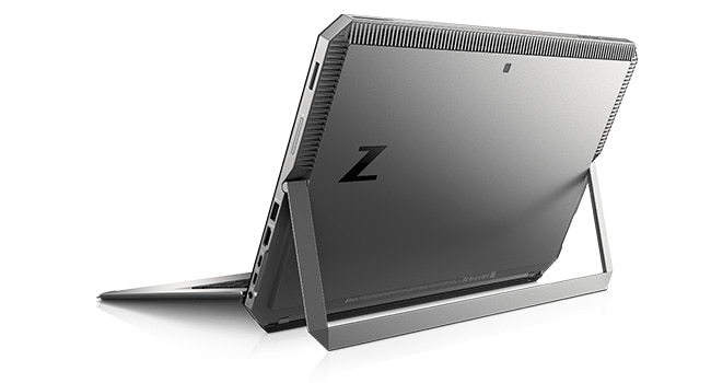 ZBook x2 back view with integrated kick stand