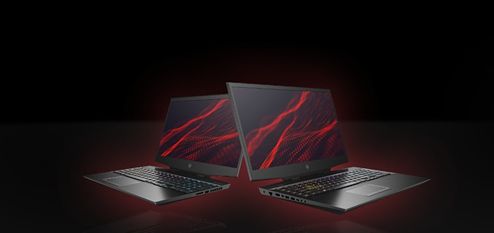 Omen 15 and 17 laptops left and right view