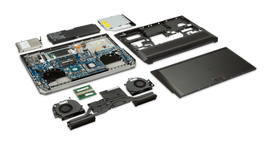 What is inside the Zbook 15 laptop workstation