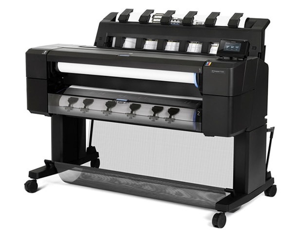 Side view of the HP DesignJet T1530 Printer