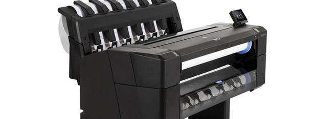 Close-up view of the HP DesignJet T1530 Printer
