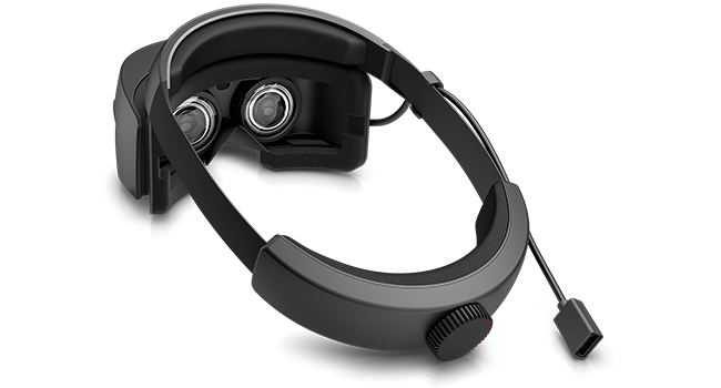 HP Windows Mixed Reality Headset back view