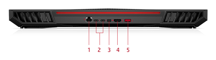 OMEN X Laptop back view ports