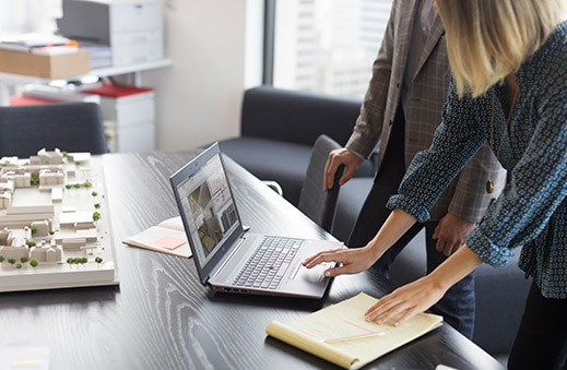 HP Zbook 15 laptop workstation in-use in an architect's office