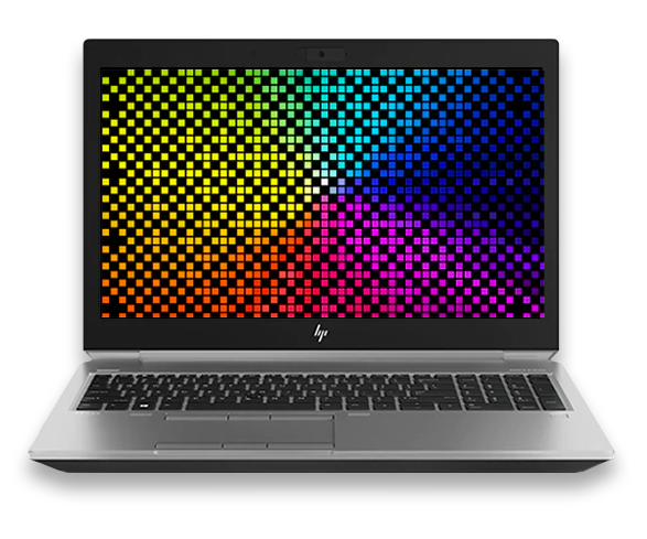 HP ZBook 15 front facing DreamColor display