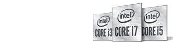 Logotipo de Windows 10, logotipo de Intel Core i7