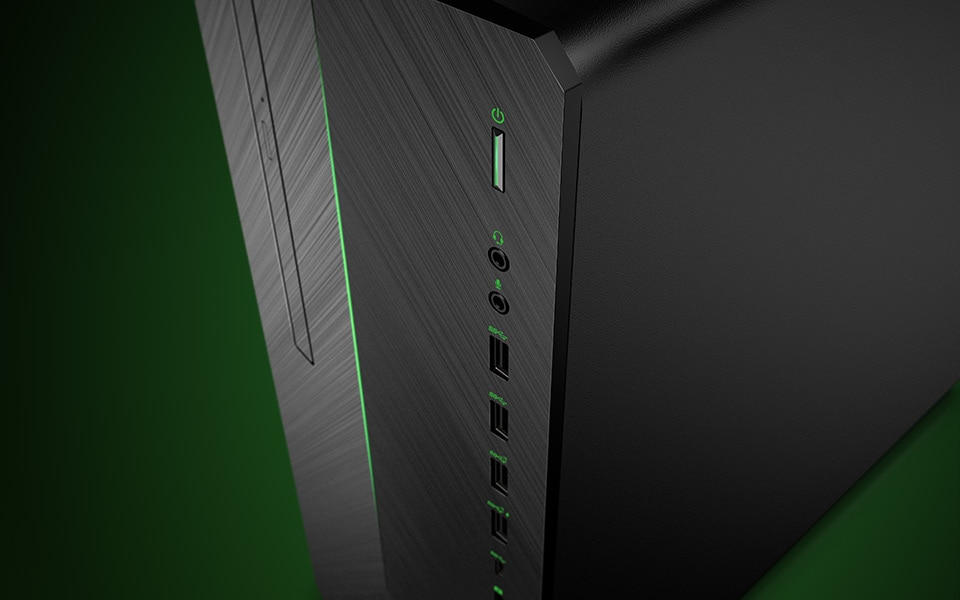 Pavilion gaming desktop many front ports