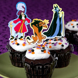 Disney Villain Halloween Cupcake Toppers
