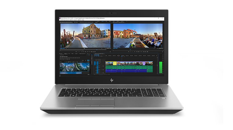Zbook 17 laptop with video player icon
