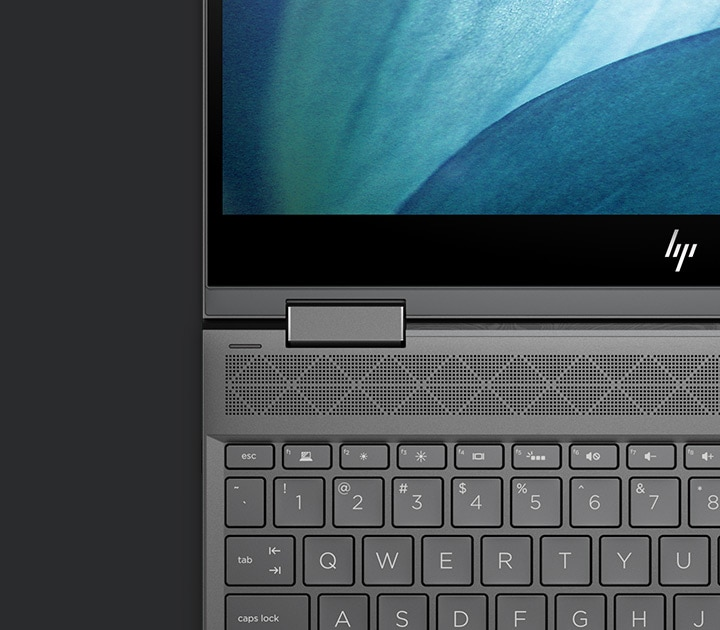 ENVY x360 edge to edge screen and keyboard  view
