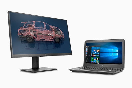 HP ZBook mobile workstation with optional HP Z Display.