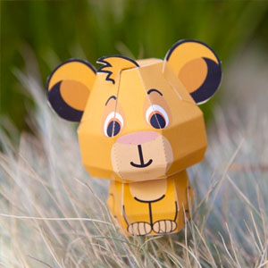 Disney's The Lion King Simba Cutie Papercraft