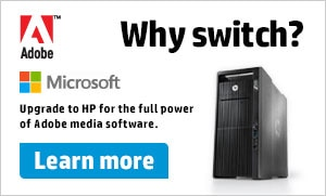 Why switch? Upgrade to HP for the full power of Adobe media software. Learn more.